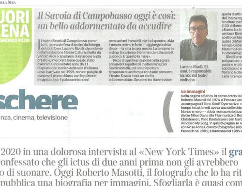 Teatro Savoia – L'intervista del Corriere della Sera a Luciano Rivelli