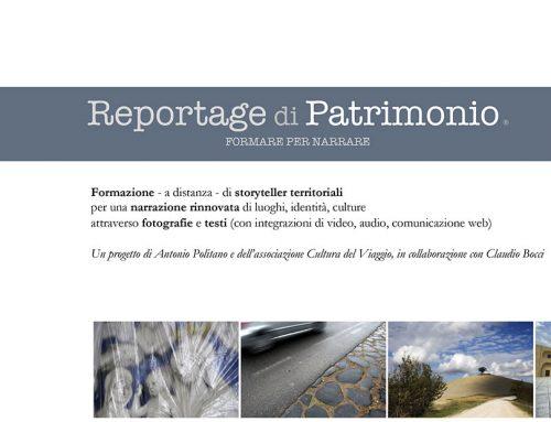 """AVVISO PUBBLICO PER LA SELEZIONE DI PARTECIPANTI AL PROGETTO """"REPORTAGE DI PATRIMONIO"""" UN WORKSHOP DI FOTOGRAFIA E SCRITTURA"""