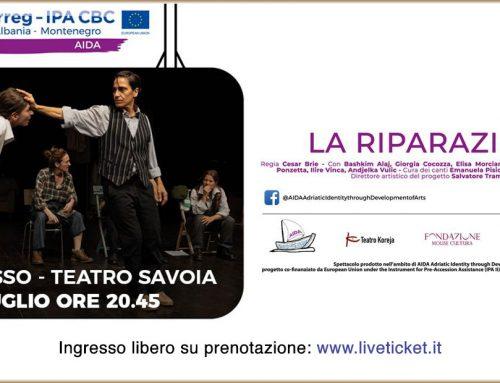 """Progetto AIDA, lo spettacolo teatrale """"La Riparazione"""" al teatro Savoia"""