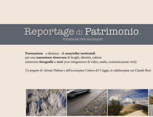 """Proroga del termine per """"Avviso pubblico per la selezione di partecipanti al progetto Reportage di patrimonio, Un workshop di fotografia e scrittura"""""""